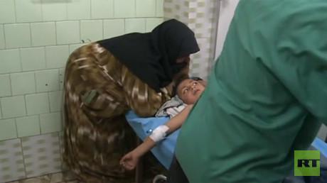 6 children killed, over a dozen injured in rebel shelling of Aleppo school (VIDEO)