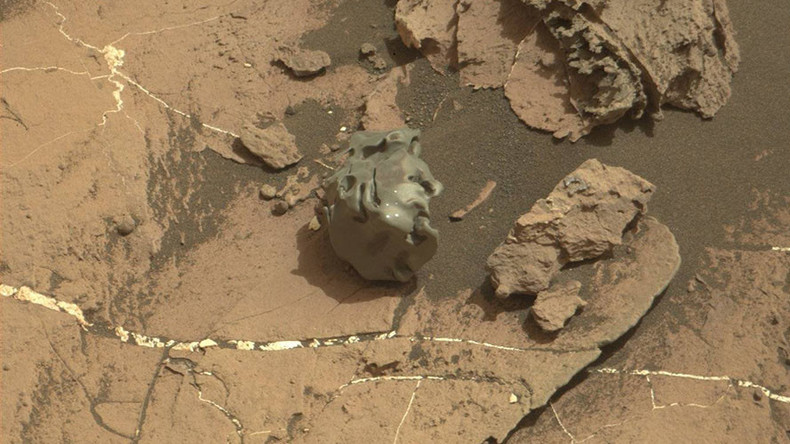 Bizarre smooth metallic meteorite spotted by Mars rover  (PHOTOS)