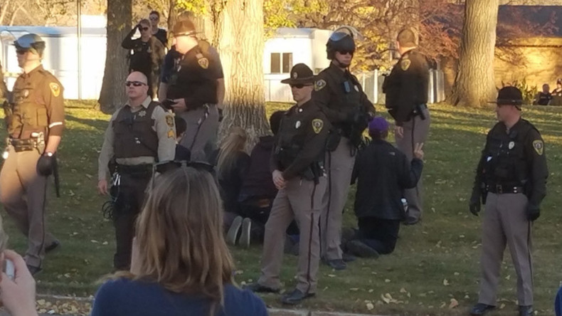 14 Dakota Access protesters arrested near state capitol building