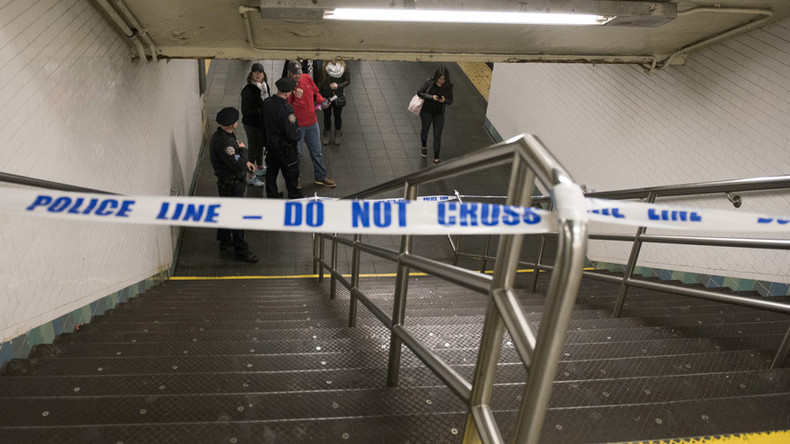 Person killed after being shoved in front of subway train at Times Square, New York
