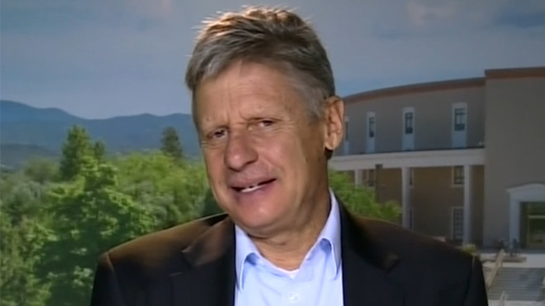 '50% of Americans are independent. Where's the representation?' – Gary Johnson to RT (VIDEO)