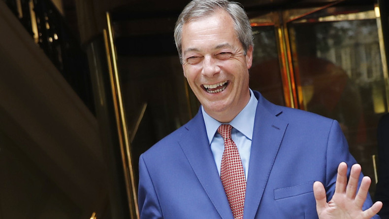 Don't grope Theresa May: Farage offers Trump lesson in diplomacy