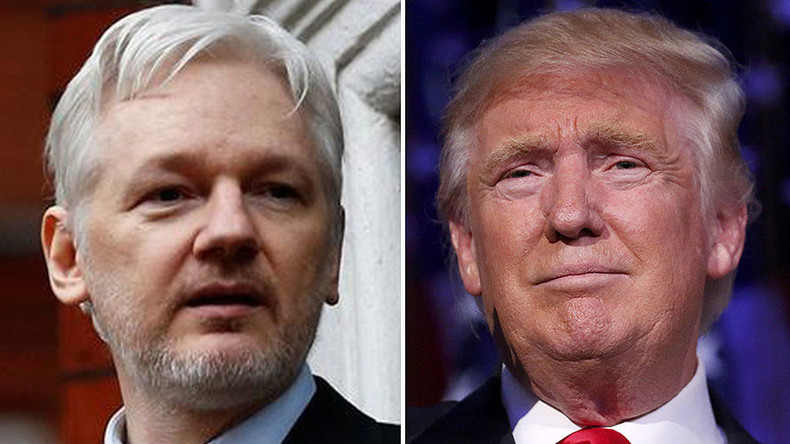 WikiLeaks supporters call on Trump to 'pardon' Assange