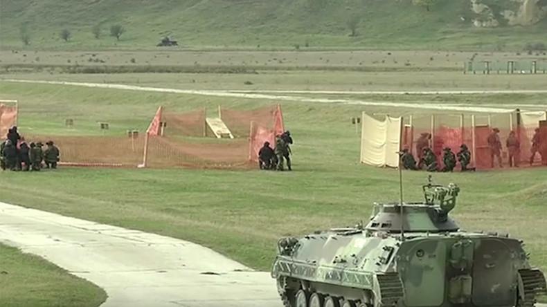 Slavic Brotherhood 2016: Paratroopers, drones & quadbikes deployed in anti-terror drills (VIDEOS)