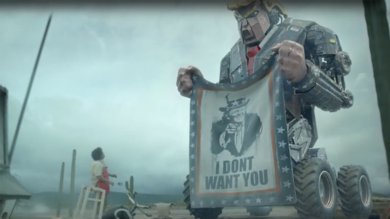'Robo-Trump' tramples Mexicans in film attacking president-elect's policies (VIDEO)