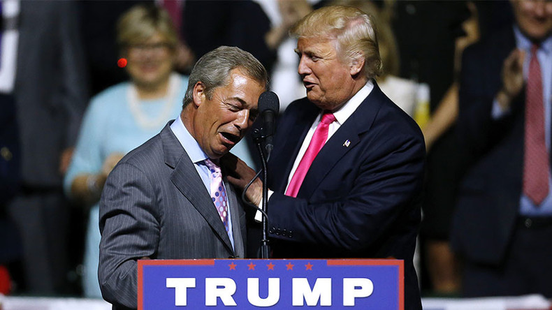 Trump camp 'will call Nigel Farage before Theresa May' to discuss policy, says UKIP donor