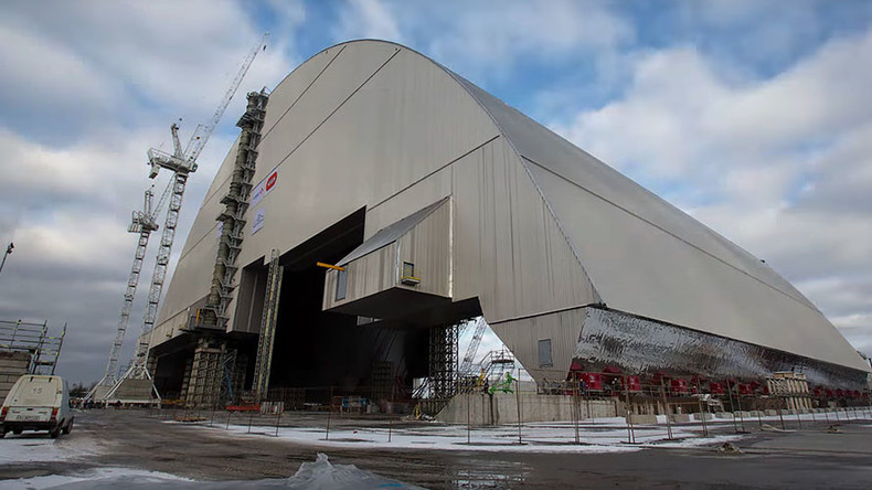 Giant radiation shield built to cap Chernobyl's damaged nuclear reactor (VIDEO, PHOTOS)