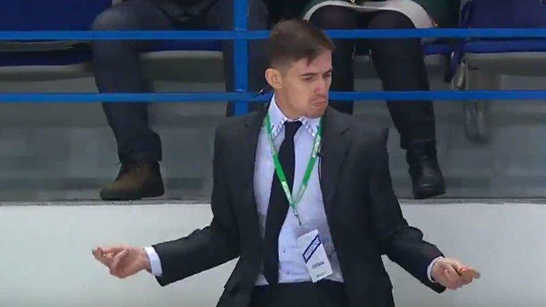 Russian hockey 'security guard' dancing to Michael Jackson goes viral (VIDEO)