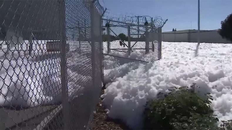 Attack of the blob: Foam floods Northern CA neighborhood