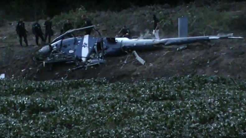 4 police killed after helicopter 'shot down' in Rio (VIDEO)