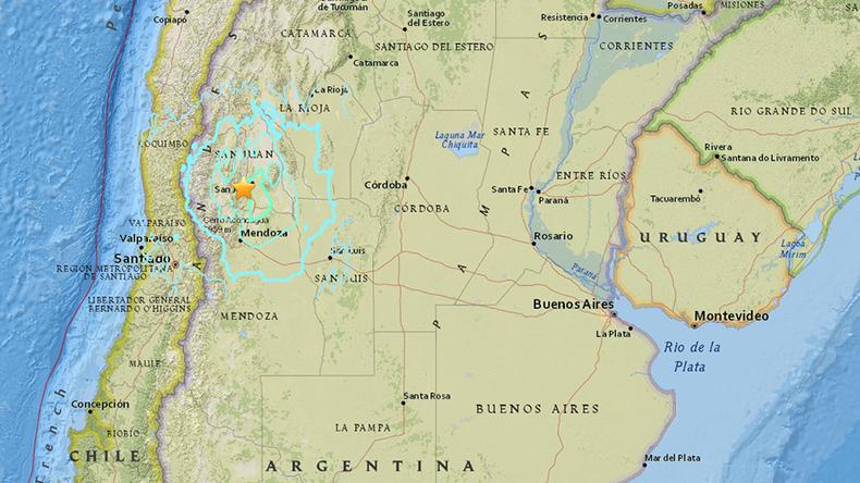 Magnitude 6.4 quake hits western Argentina – USGS
