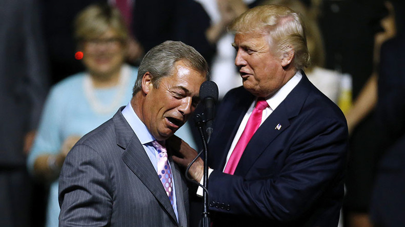 Trump says UKIP leader Farage would do 'great job' as British ambassador to US