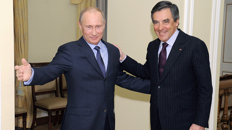 French media brands presidential hopeful Fillon as 'Putin's friend'