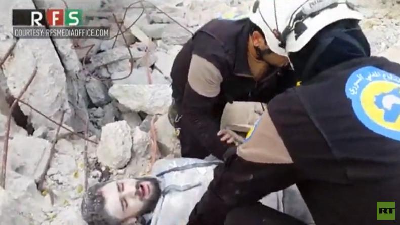 White Helmets 'deserve an Oscar' for mannequin challenge performance in Syria war zone
