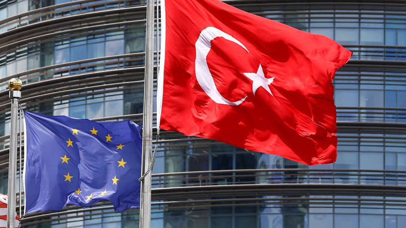 EU lawmakers call for halt to Turkey membership talks over post-coup crackdown