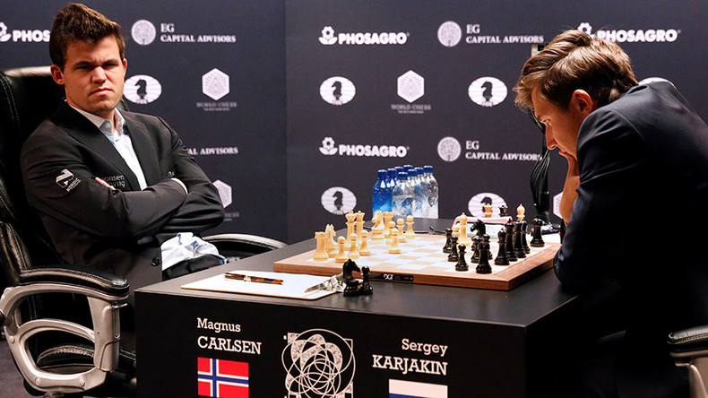 Carlsen draws even with Karjakin at World Chess Championship