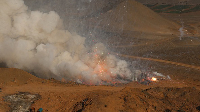 Peruvian authorities destroy massive haul of illegal fireworks in spectacular explosion (VIDEO)