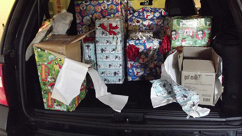 Christmas cancelled? Ohio troopers find 71 lbs of marijuana in festive wrap