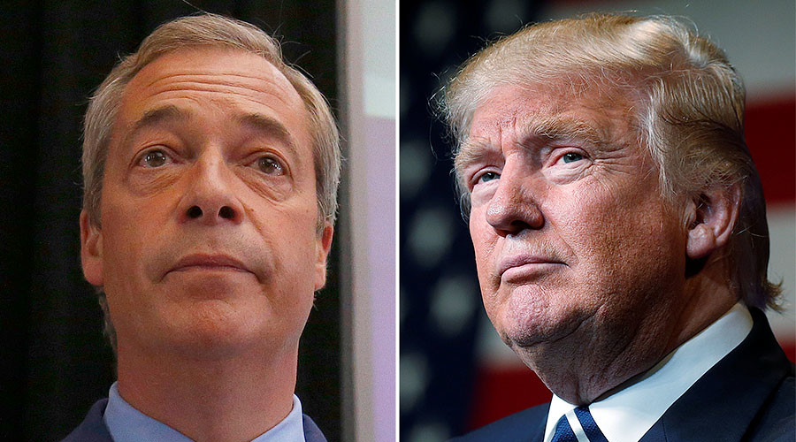 Nigel Farage says he will 'join Donald Trump's team in the White House'