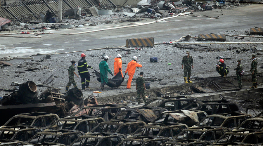 Dozens of Chinese officials jailed over Tianjin explosions which killed 165 (VIDEO)