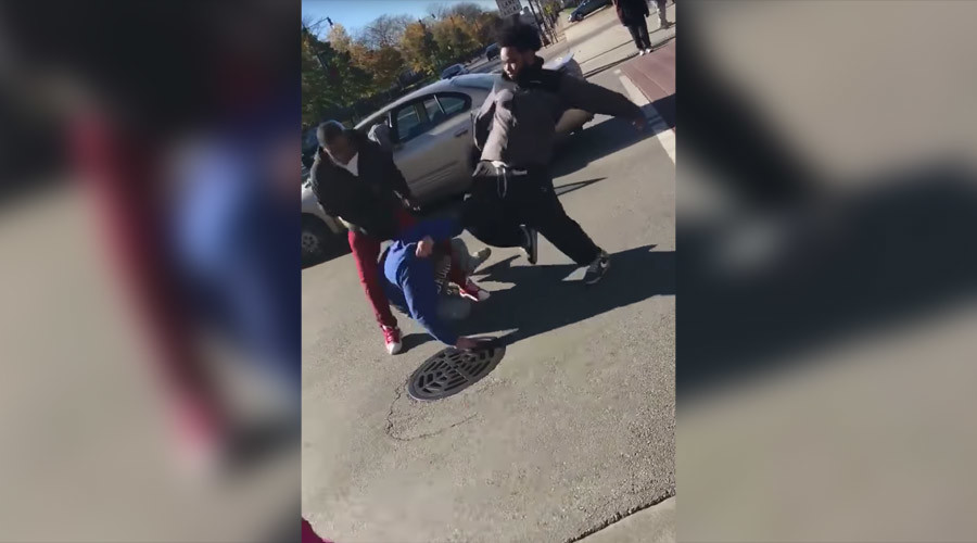 Man kicked in head, has car stolen as bystanders shout 'You voted Trump' (GRAPHIC VIDEO)