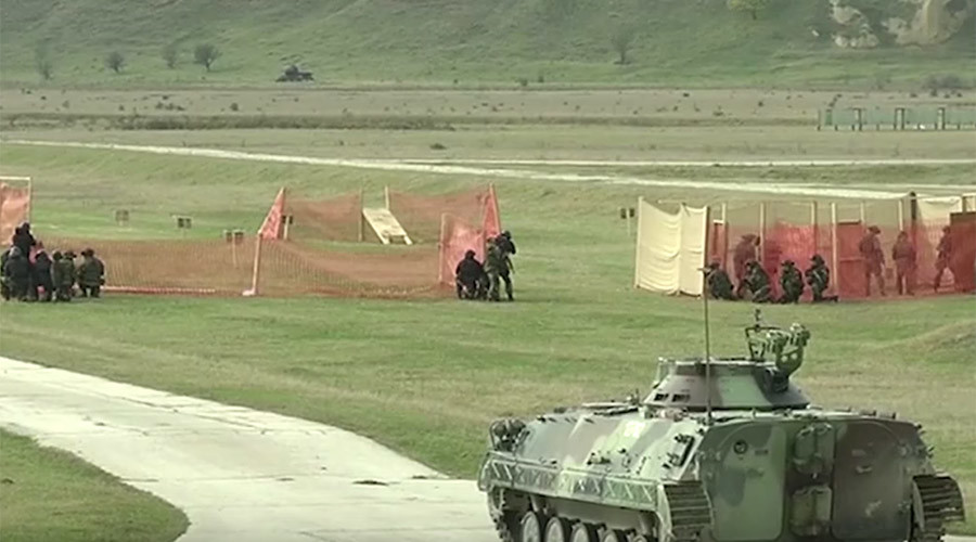 Slavic Brotherhood 2016: Paratroopers, drones & quadbikes deployed in anti-terror drills (VIDEOS)