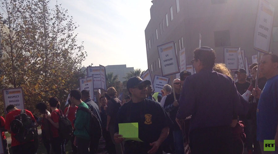 'All we're asking for is what's fair': Teamsters strike at UCLA