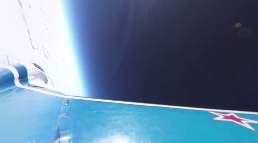 RT shoots unique 360 video of MiG jet penetrating stratosphere at 2,000kph (EXCLUSIVE)