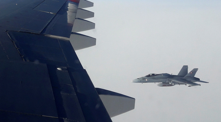 Moscow demands explanation for Russian media plane being shadowed by Swiss fighter jets
