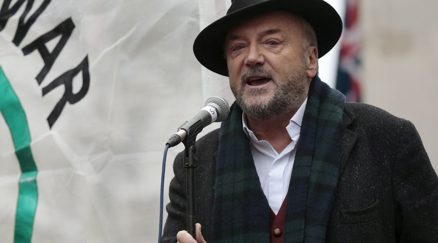 George Galloway attacked with glitter at Scottish university talk (VIDEO)