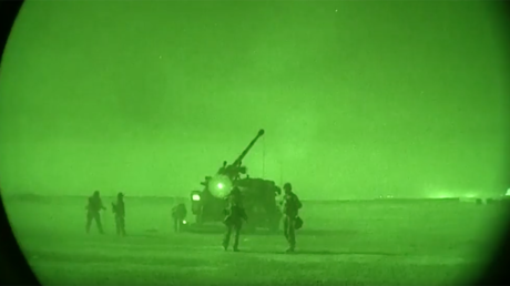 French Army releases night video of its artillery pounding ISIS positions in Iraq