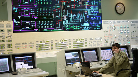 The main control panel of the fourth generating unit with a BN-800 nuclear reactor at the Beloyarskaya Nuclear Power Plant in Zarechny, Sverdlovsk Region. © Pavel Lisitsyn