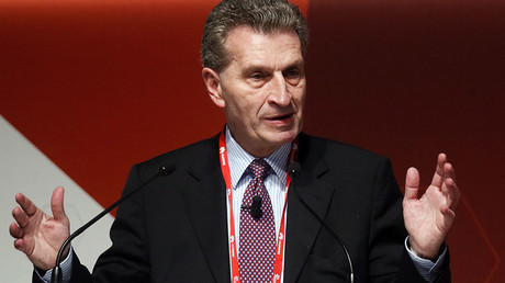 Gunther Oettinger, European Commissioner of Digital Science and Society. ©Albert Gea