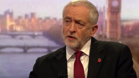 Jeremy Corbyn talking to Andrew Marr on Sunday © liarpoliticians