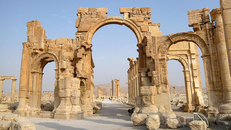 A view shows the Monumental Arch in the historical city of Palmyra, Syria. File photo. © Sandra Auger