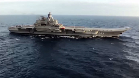 Russian carrier takes part in massive strikes on terrorists in Syria's Idlib & Homs (VIDEO)