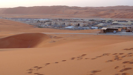 Shaybah, the base for Saudi Aramco's Natural Gas Liquids plant and oil production, 2016 © Ian Timberlake