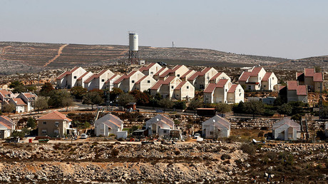 A general view shows houses in Shvut Rachel, a West Bank Jewish settlement located close to the Jewish settlement of Shilo, near Ramallah. © Baz Ratner