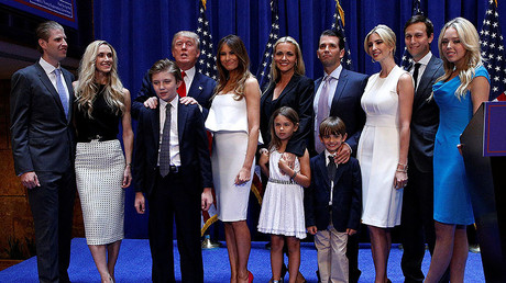 Donald Trump poses with his family. File photo. © Brendan McDermid