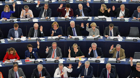 'Ridiculous & insane hysteria': Russia placed alongside ISIS in new EU resolution debated by MEPs