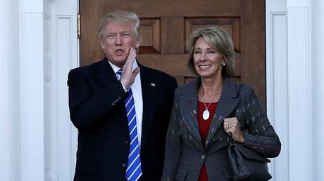 U.S. President-elect Donald Trump and Betsy DeVos. © Mike Segar