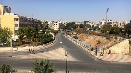The area of the humanitarian corridor in Aleppo, Syria. © Mikhail Alaeddin