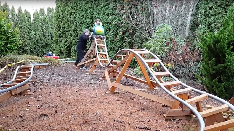 Frontrunner for 'World's Greatest Grandad' builds awesome backyard theme park (VIDEO)
