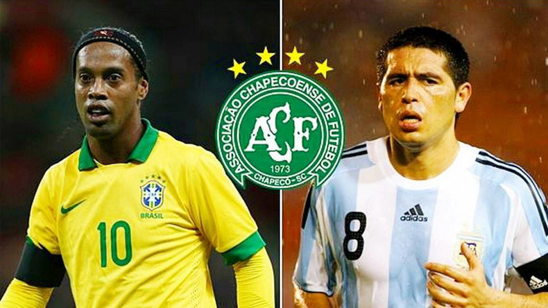 Ronaldinho and Riquelme offer to come out of retirement to help plane crash team Chapecoense