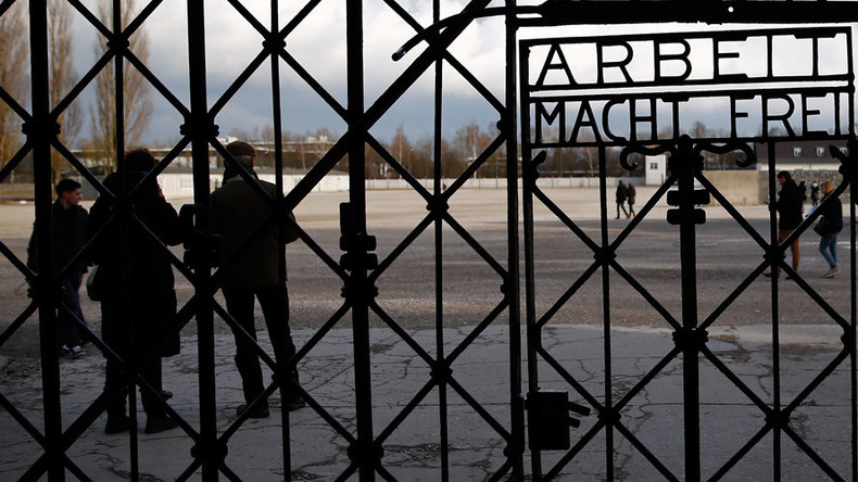 Stolen Dachau death camp gate with 'Work sets you free' inscription likely retrieved in Norway