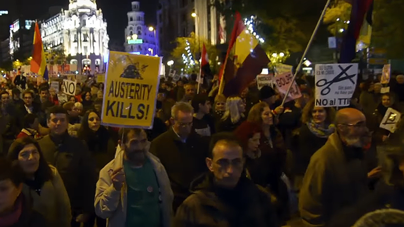 1,000s of Spaniards march against corporations & austerity (VIDEO)