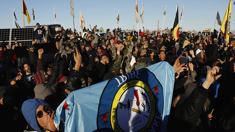 DAPL protesters proclaim victory as pipeline forced to change route – statement