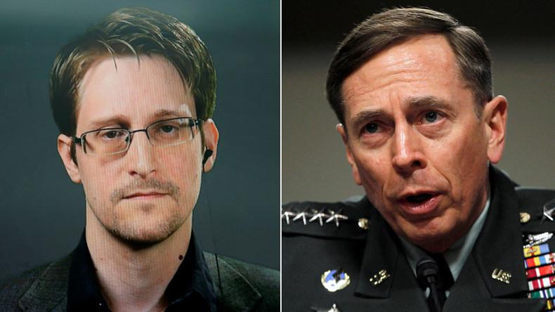 Snowden: Ex-CIA Director Petraeus 'shared far more classified info than I ever did'