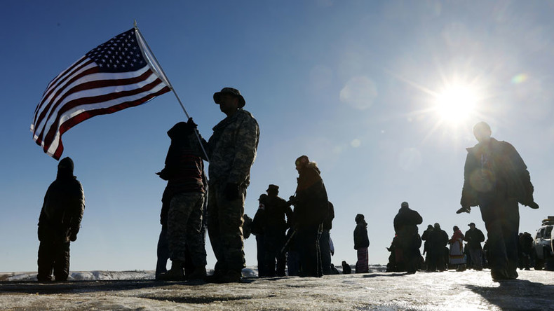 After Dakota Access Pipeline victory, veterans headed to Flint