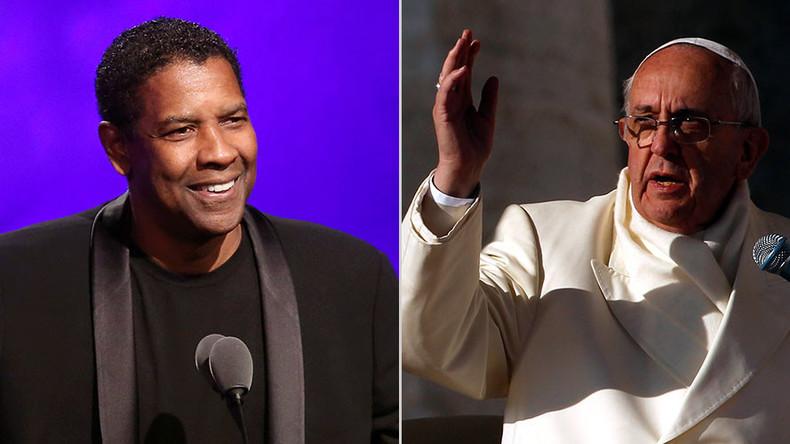 'Obsessed with excrement': Pope & Denzel Washington slam #fakenews